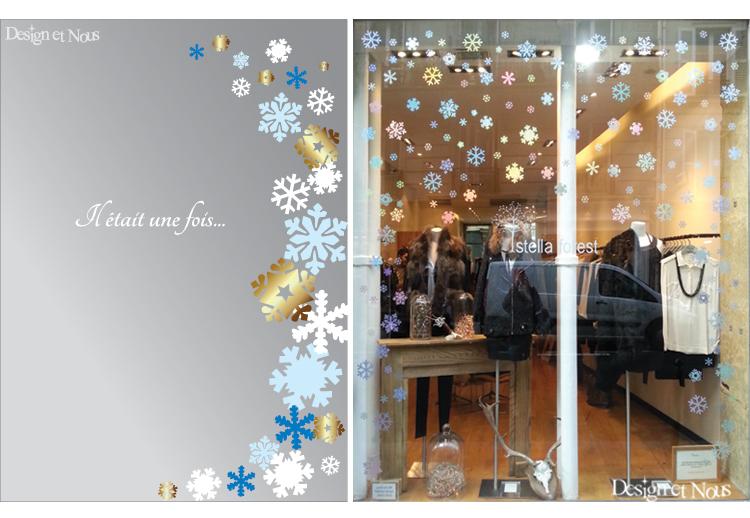 Exceptionnel Pour les fêtes de fin d'année, décorez vos vitrines avec des  VW42