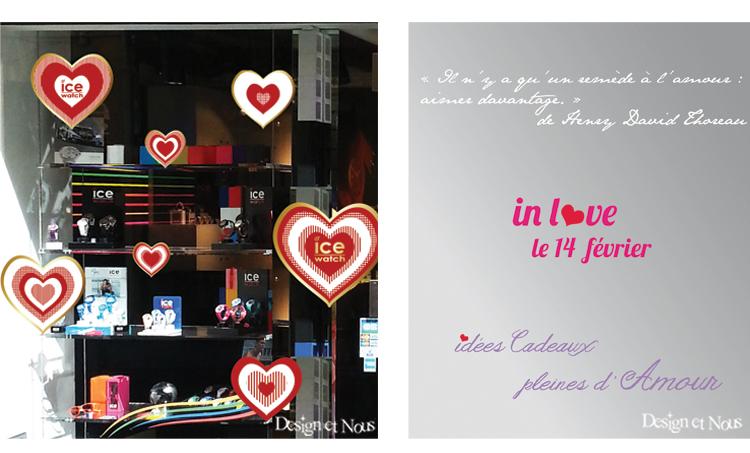 D coration pour vitrines professionnelles saint valentin - Deco vitrine st valentin ...