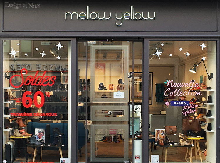 SOLDES MELLOW YELLOW DECORATION STICKER VITROPHANIE NOUVELLE COLLECTION