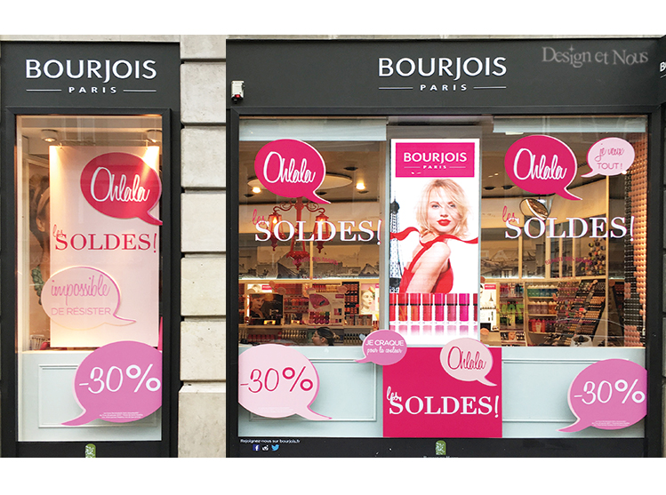 BOURJOIS SOLDES DECORATION CALICOT VITROPHANIE PROMOTION
