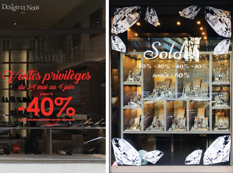 Stickers Soldes Diamants et Ventes Privilèges