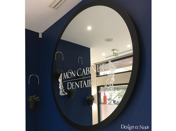 MIROIR CABINET DENTAIRE CENTRE SOINS ORTHODONTHIE RADIOLOGIE DENTISTE MEDICAL VITROPHANIE STICKER